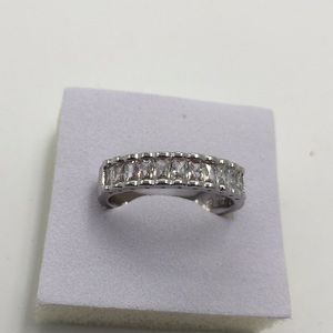 10 small AAA CUBIC ZIRCONIA STAMPED925 Silver ring